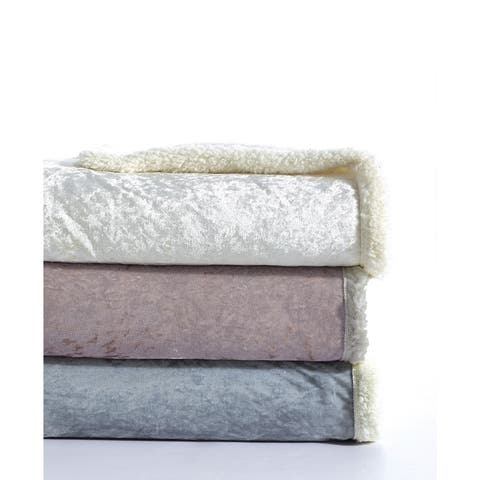 De Moocci Velvet Crush Sherpa Throw Blanket