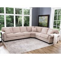 Abbyson Conway Beige Fabric Sectional
