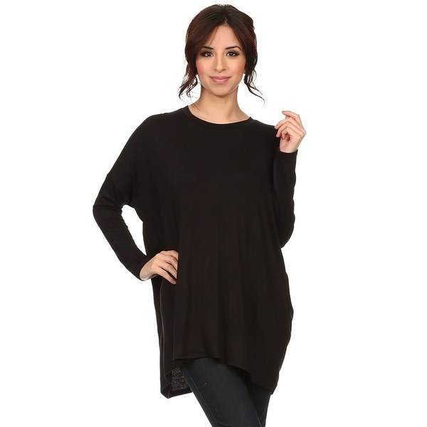 Women's Casual Solid Jersey Knit Top