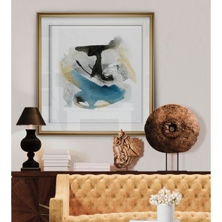 Artesian Spring III -Custom Framed Print - blue, white, grey, yellow, green, silver, gold