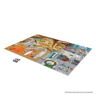 TCG Toys Hot Wheels Jumbo Mega Mat Play Mat w/ 2 Bonus Vehicles