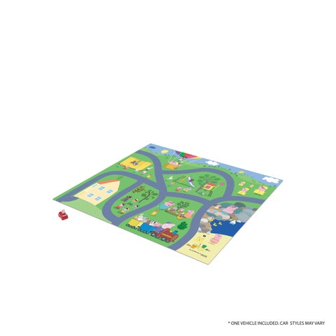 TCG Toys Peppa Pig Original Mega Mat Play Mat w/ Bonus Vehicle