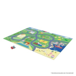 TCG Toys Peppa Pig Jumbo Mega Mat Play Mat w/ 2 Bonus Vehicles