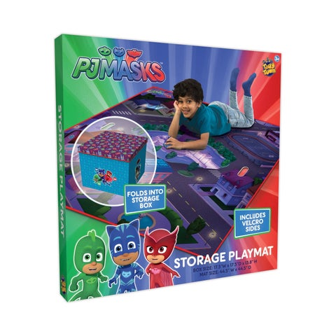 TCG Toys PJ Masks Tidy Town Storage Box With Playmat
