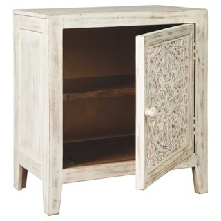 Link to Fossil Ridge Antique White Vintage Accent Cabinet Similar Items in Living Room Furniture
