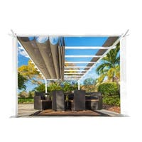 11 x 16 Alpine White Pergola  Sand Top