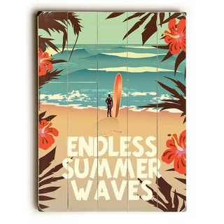 Endless Summer Waves -  Planked Wood Wall Decor by  American Flat