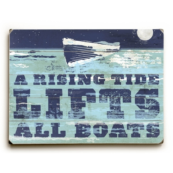 A Rising Tide - Planked Wood Wall Decor by Peter Horjus