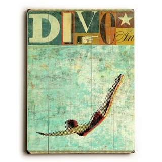 Dive -   Planked Wood Wall Decor by Stella Bradley