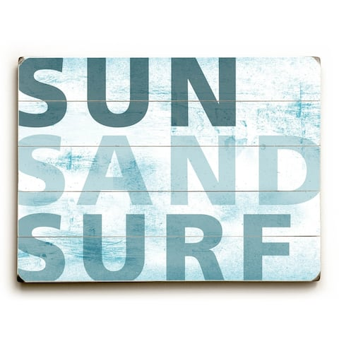 Sun, Sand & Surf - Planked Wood Wall Decor by Peter Horjus