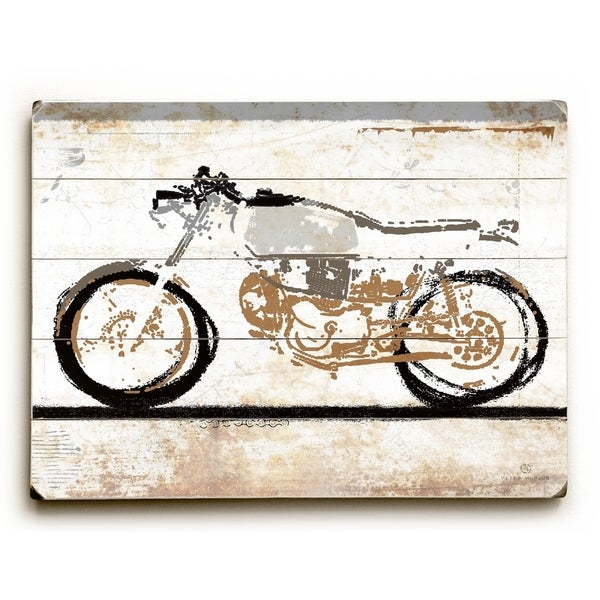 Motorcycle - Planked Wood Wall Decor by Peter Horjus