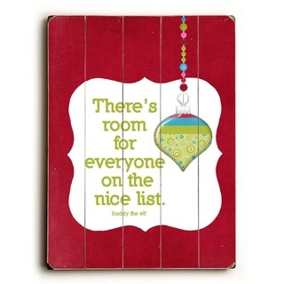 The Nice List -   Planked Wood Wall Decor by Cheryl Overton