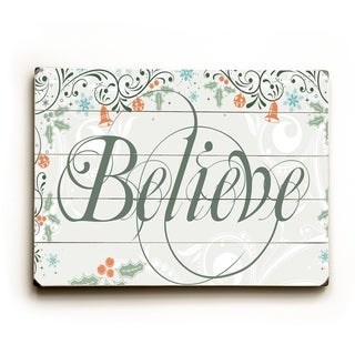 Believe -  Planked Wood Wall Decor by Artehouse