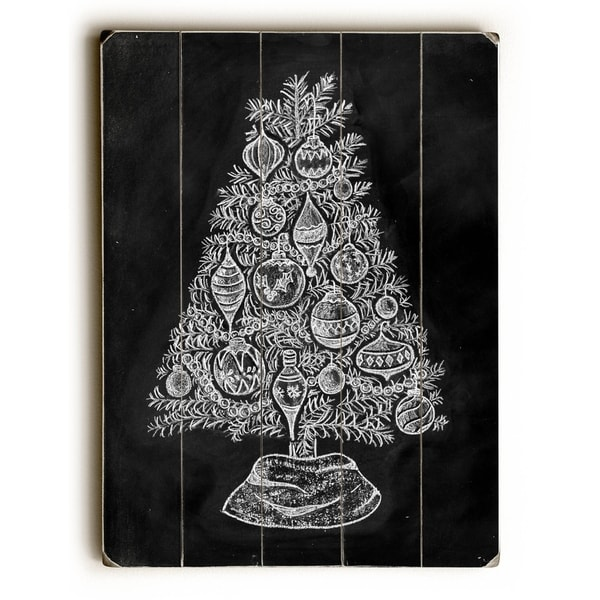 Christmas Tree - Planked Wood Wall Decor by Robin Frost