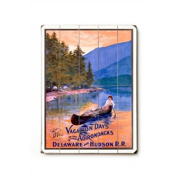 Vacation Days in the Adirondacks - Planked Wood Wall Decor by Posters Please