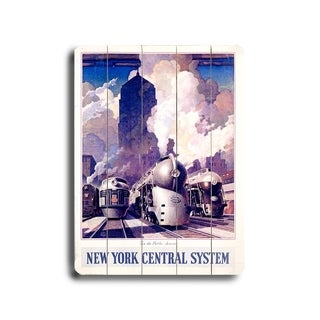 New York Central Railroad -   Planked Wood Wall Decor by Leslie Ragan