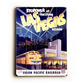 Union Pacific Las Vegas Deco Train -   Planked Wood Wall Decor by Union Pacific