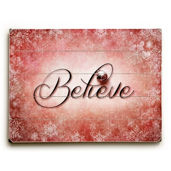Christmas Believe - Planked Wood Wall Decor by Susan Templin