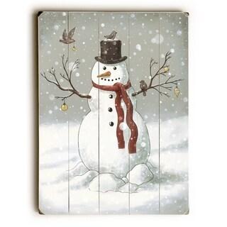 Snowman - Multi  Planked Wood Wall Decor by Terry Fan