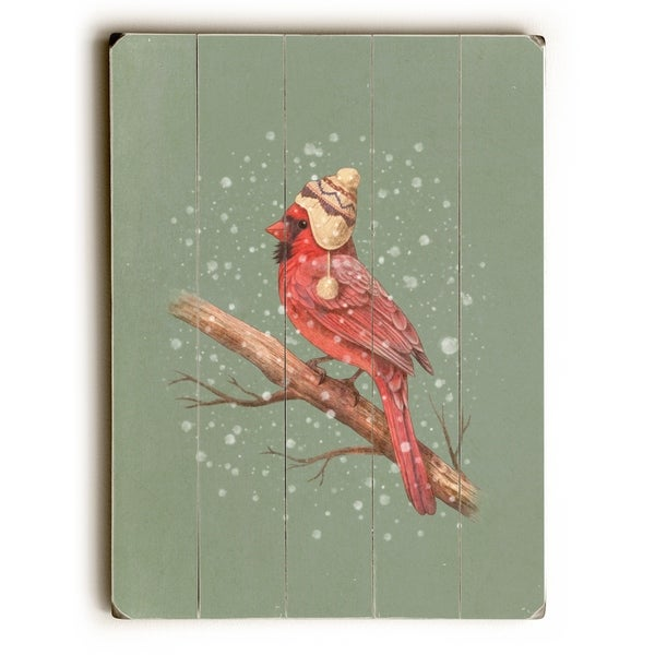 First Snow - Multi Planked Wood Wall Decor by Terry Fan
