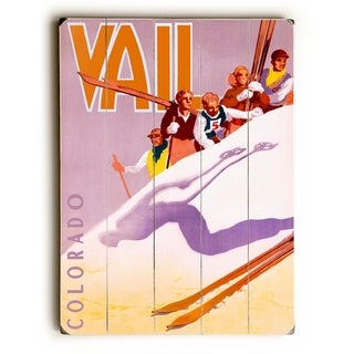 ski poster -   Planked Wood Wall Decor by Posters Please