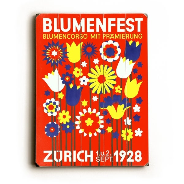 Swiss Bloomfest Zurich Poster - Planked Wood Wall Decor by Posters Please