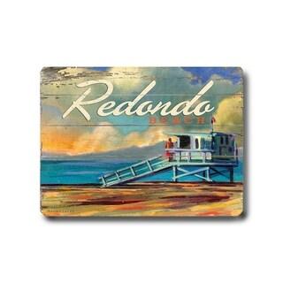 Redondo Beach -   Planked Wood Wall Decor by Wade Koniakowsky