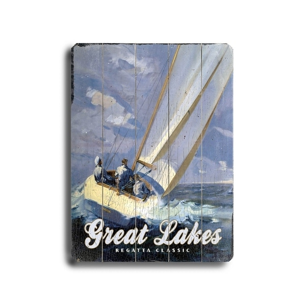 Great Lakes Regatta Classic - Planked Wood Wall Decor by LNER