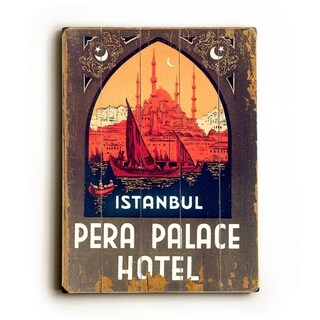 Istanbul Pera Palace Hotel -   Planked Wood Wall Decor by Laughing Elephant