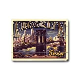 Brooklyn Bridge -   Planked Wood Wall Decor by Next Day Art
