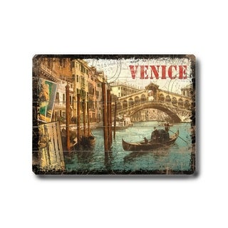 Venice -   Planked Wood Wall Decor by Next Day Art