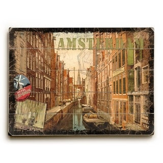 Amsterdam -   Planked Wood Wall Decor by Next Day Art