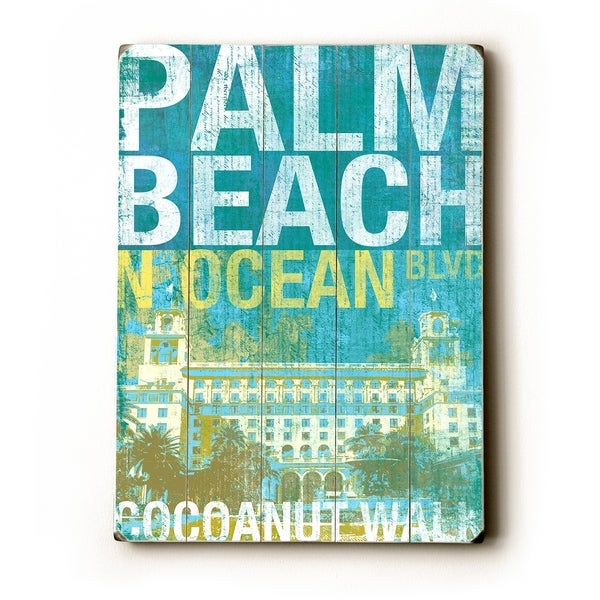 cocoanut walk palm beach - Planked Wood Wall Decor by Cory Steffen