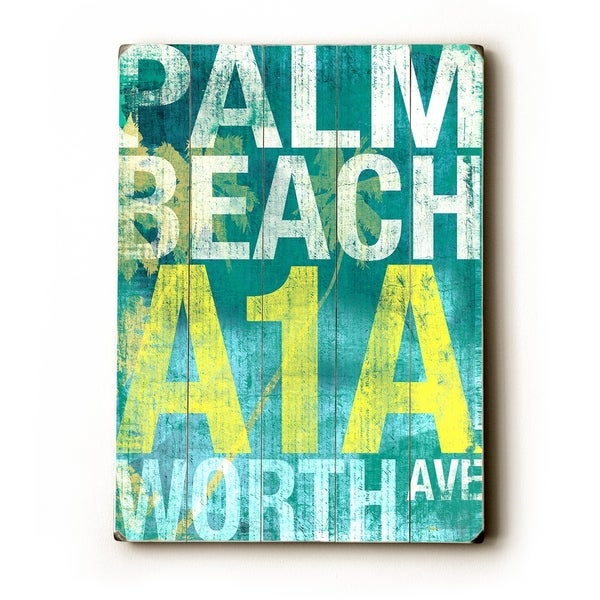 Palm beach - Planked Wood Wall Decor by Cory Steffen