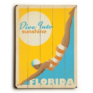 Sunshine - Florida - Planked Wood Wall Decor by Anderson Design Group