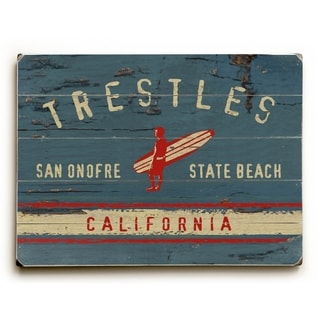 Trestles -   Planked Wood Wall Decor by Lynne Ruttkay