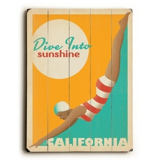 Sunshine - California -   Planked Wood Wall Decor by Anderson Design Group