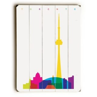 Toronto Skyline -   Planked Wood Wall Decor by ArtLicensing