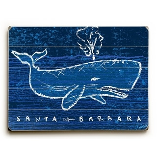 White Whale -   Planked Wood Wall Decor by Peter Horjus