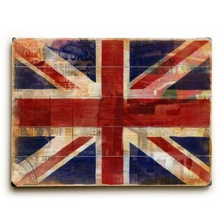 Union Jack -   Planked Wood Wall Decor by Cory Steffen