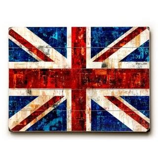 British Flag -   Planked Wood Wall Decor by Stella Bradley