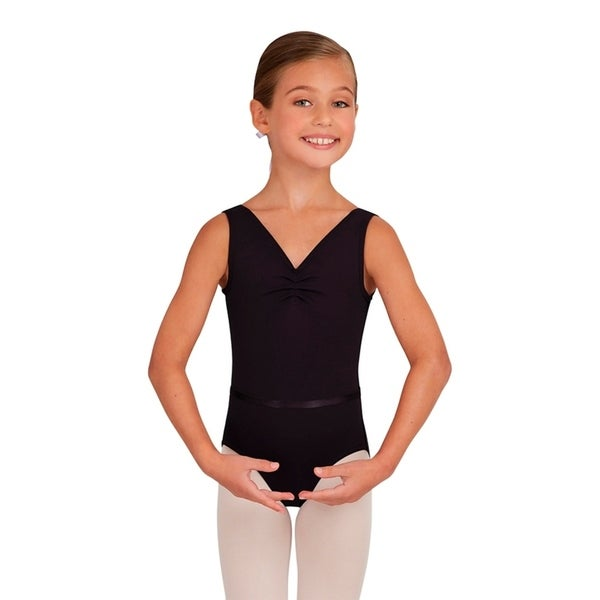 102417234c86 Shop Capezio Girls Tactel Collection V-Neck Pinch Front Leotard with ...