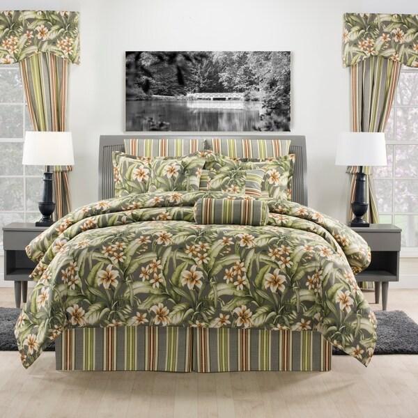 Kona tropical grey comforter set