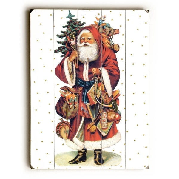 Santa - Planked Wood Wall Decor by Artehouse