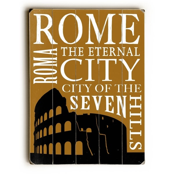 Rome Silhouette - Planked Wood Wall Decor by Cory Steffen