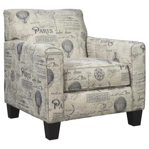 Nesso Casual Gray/Cream Club Accent Chair