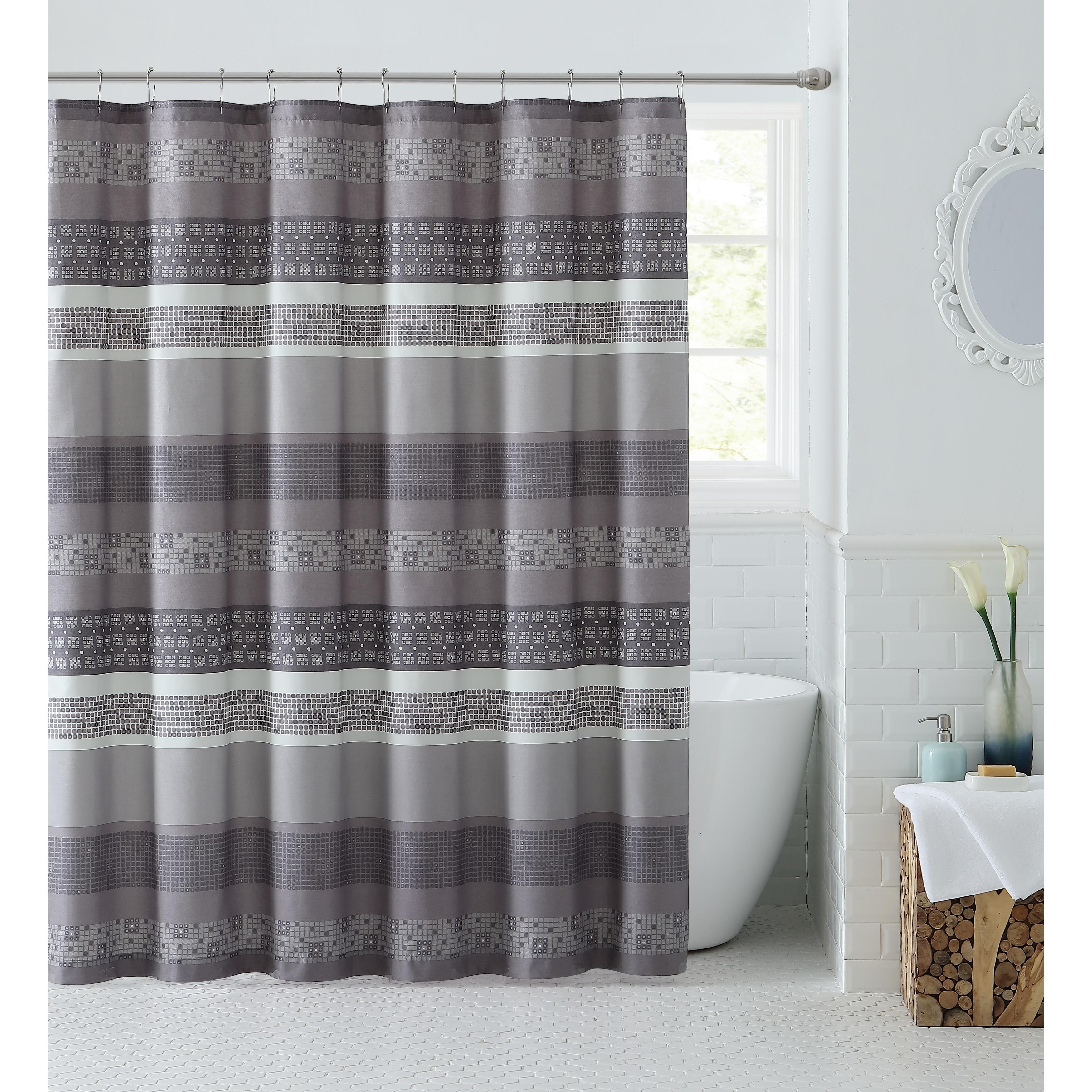 Vcny Home Casper Striped Shower Curtain