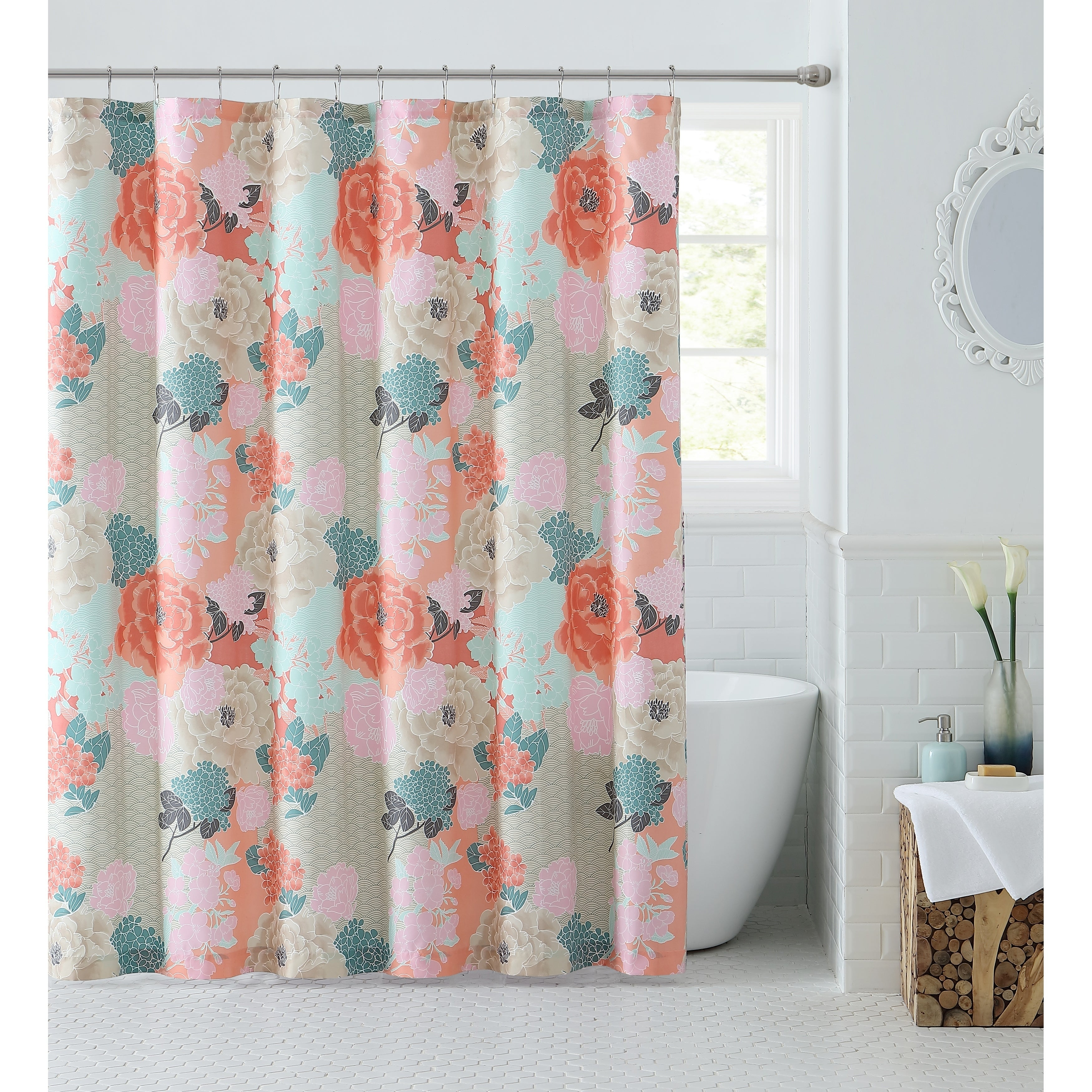 Shop Black Friday Deals On Vcny Home Jodi Floral Shower Curtain Multi Overstock 22670697