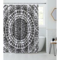 VCNY Home Kaci Black & White Medallion Shower Curtain