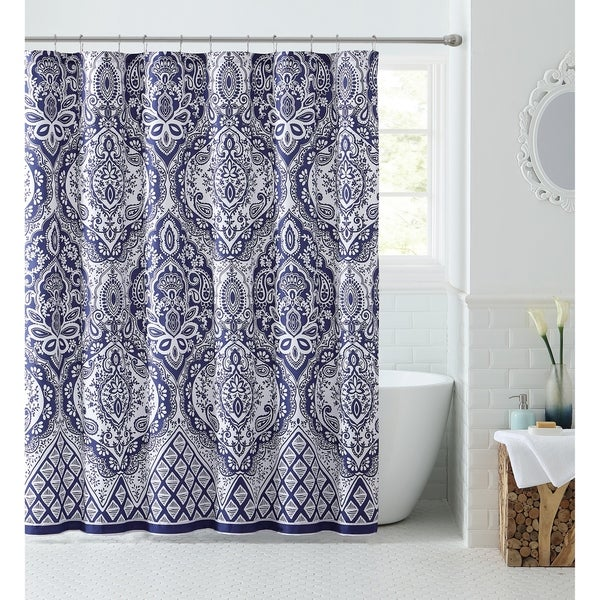 VCNY Home Tori Ogee Medallion Shower Curtain